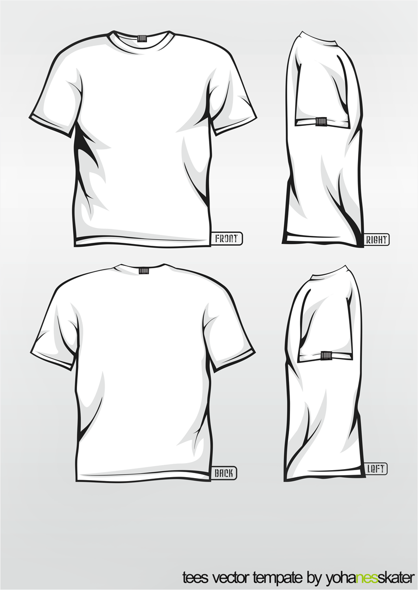 Blank tshirt template pdf joy studio design gallery for T shirt templates vector